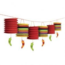 Mexican Fiesta Paper Lantern Garland Decoration